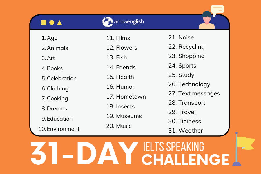 31 day speaking challenge